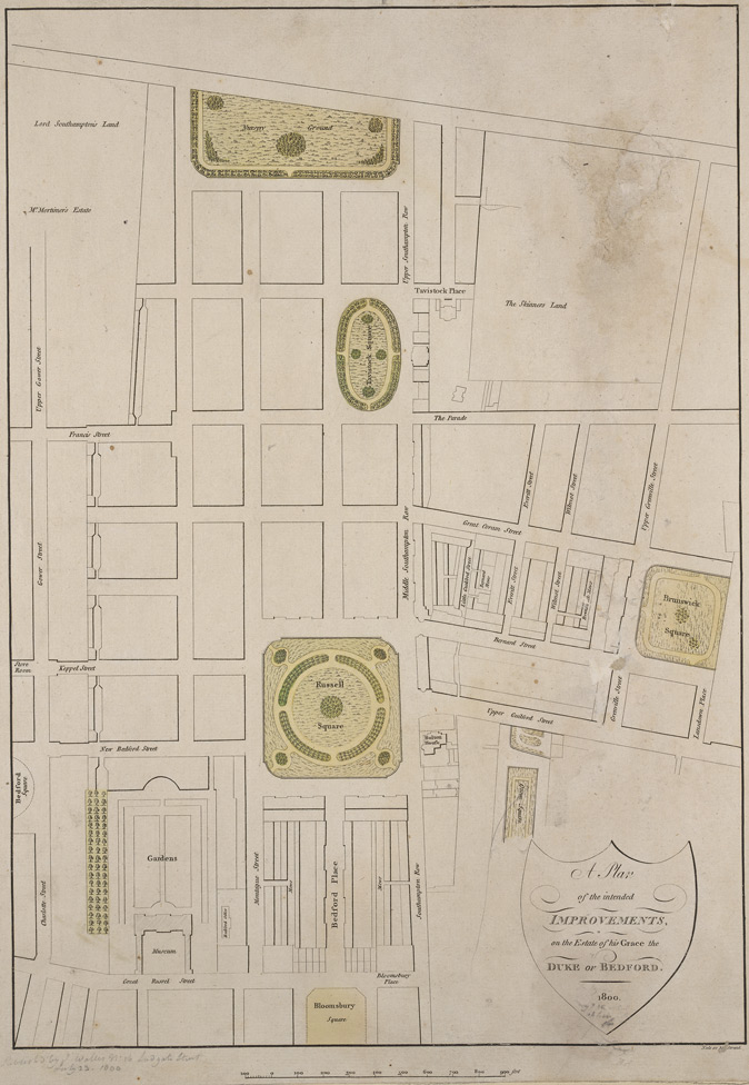A plan of the intended improvements, on the estate of His Grace the Duke of Bedford